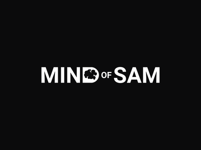 Mind Of Sam Logo icon illustration typography vector illustrator identity design mark branding logo