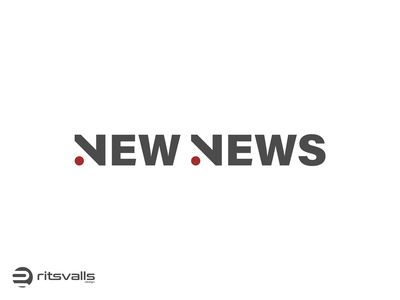 New News Logo icon design identity nn logo news logo new news news mark branding logo