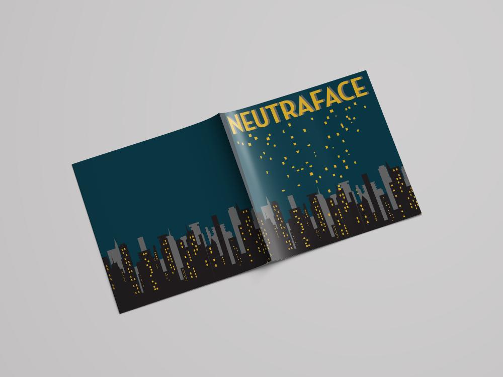 Typeface Brochure type neutraface vector illustration design typography