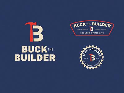 Buck the Builder logo badge logo construction logo branding concept brand identity lockup badge builder buck branding design smallbusiness sawmill hammer cabinets construction branding