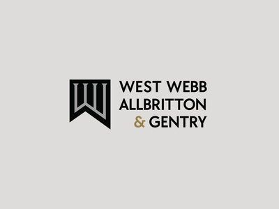 West Webb Logo law flag banner attorney lawyers law firm branding logo