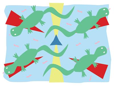 Lizard Party co crisp paper stationery lizards reptiles reptilia