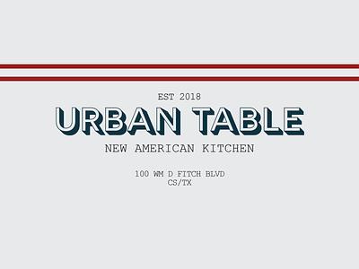 Urban Table hard work rig care values leather embossed shaded america baseball vintage restaurant
