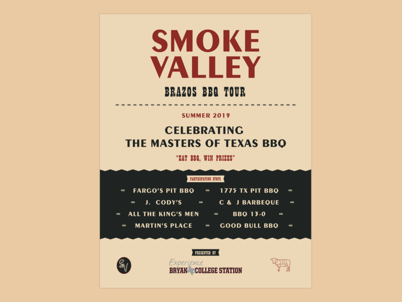 Smoke Valley Magazine Ad bbq flyer texas monthly festival poster festival smoke valley restaurant bbq