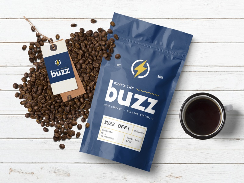 Buzz Coffee mockup coffee