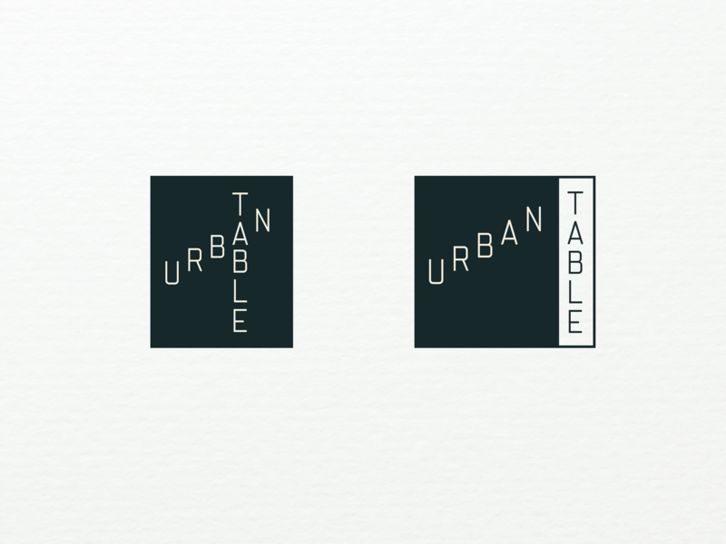 Urban Table - Alternate Universe identity minimal simple monospaced urban restaurant branding restaurant