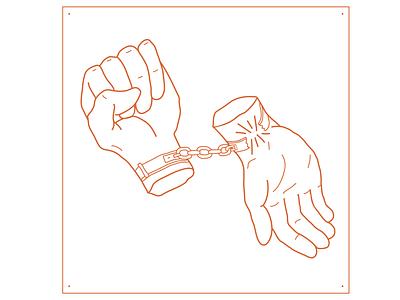 Give & Take - John Marc - Album Art music art musician tunes illustration line art love song freedom handcuffs earmilk album art music