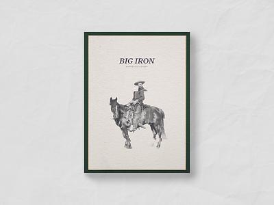 Big Iron Hideaway restaurant branding menu branding saloon chic cowboy horse big iron western restaurant canteen