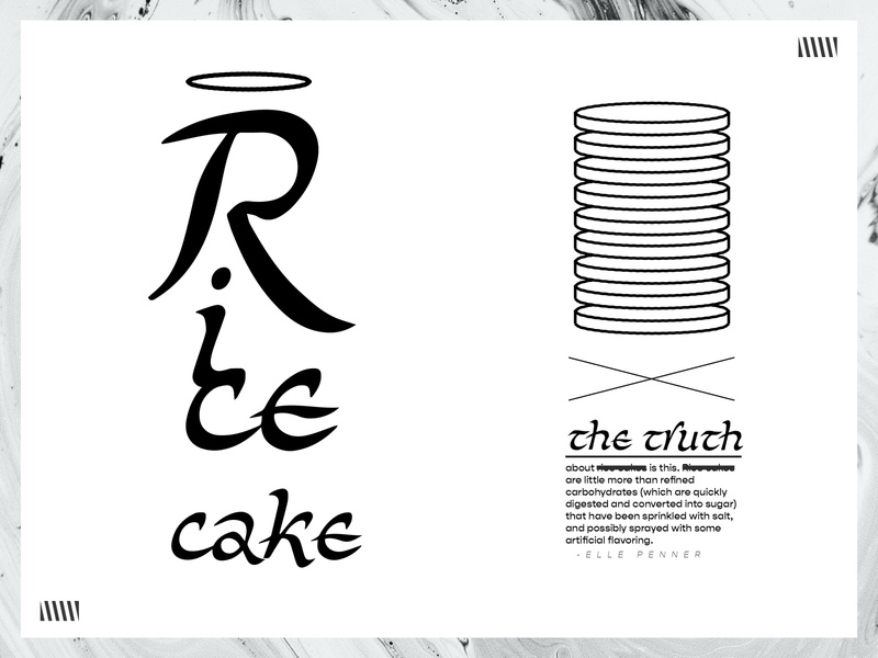Rice University inspiration inspired brush restaurant brutalism brutalist ugly risky typography scripts random doodle packaging asian pudding rice