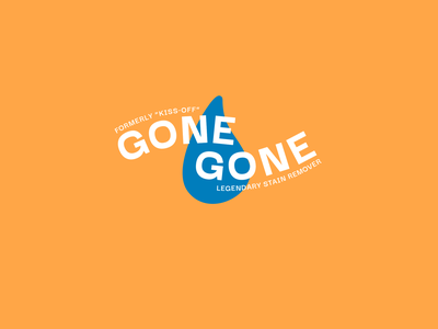 Gone Gone tube tube design chap stick stain remover laundry cleaning product gone logo branding packaging