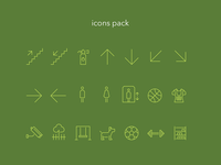 Icons pack for signage system