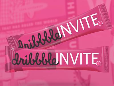 Dribbble Invite Sticks dribbble invite sticks packaging pink