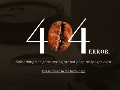 Coffee 404 Error Screen website coffee uiux webdesign error 404
