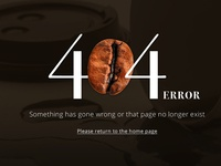 Coffee 404 Error Screen