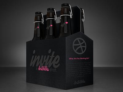 Dribbble Invite graphic design branding illustrator photoshop packaging beer invite