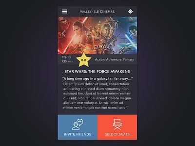 Movie App theater starwars fireworks uiux dark app movie