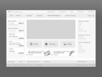 Bank  Dashboard Wireframes