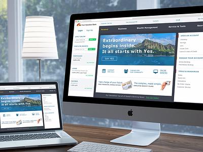 First Hawaiian Bank Redesign hawaii web design saas responsive data website adobe fireworks uiux dashboard banking