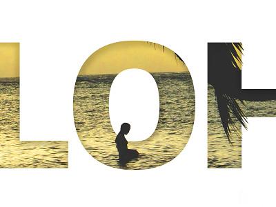 Aloha photography design hawaii typography