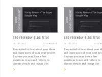 Portfolio Blog WIP