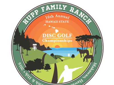 Disc Golf Disc Design golf disc golf hawaii illustration ai sports discgolf