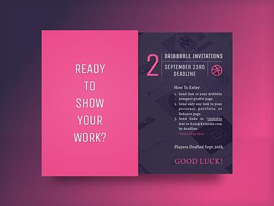 Dribbble Invite - Show Your Work card flyer dark sketch dribbble invite invite