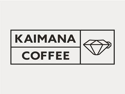 Coffee Logo brand hawaii minimalistic lines diamond coffee logo