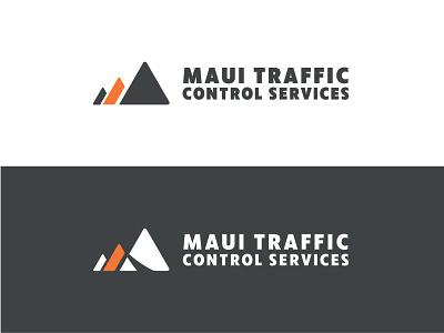 Traffic Control Logo road hawaii island branding triangle orange sfatey traffic logo