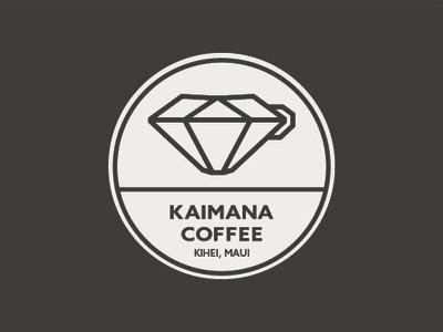 Kaimana Coffee Coasters maui hawaii branding coasters design logo coffee