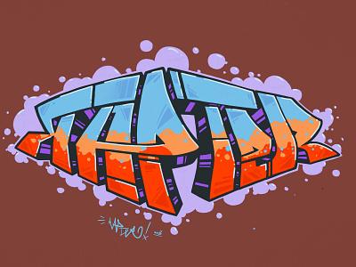 Graffiti procreate ipad digital hiphop graffiti rapter