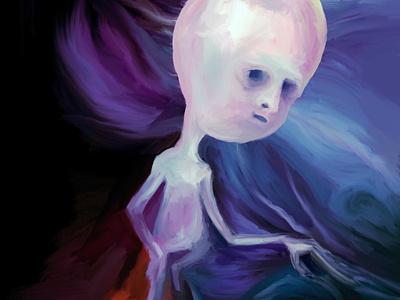 Random Alien painting alien ipad procreate illustration character