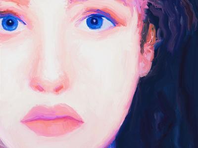 Random Paiting portrait woman portrait woman painting ipad procreate design character illustration
