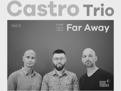 Far Away - Sebastian Castro greyscale sebastian castro music jazz cover album cover design
