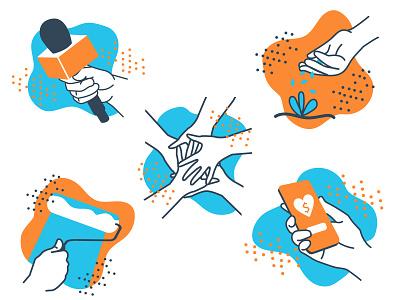 GiveGab Illustrations philanthropy volunteering illustration digital digital art drawing illustrator illustration