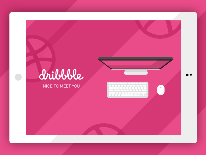 Nice to Meet You Dribbble photoshop sketch basketball ux ui debut