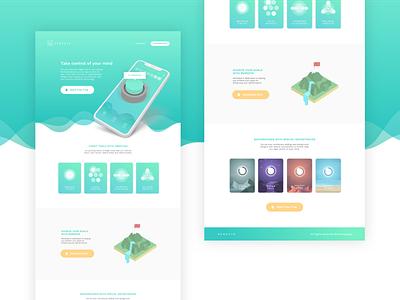 Remedy8 landing page app design concept illustration ux ui fidget sketch social startup logo branding