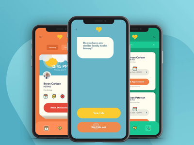 Sniffle Prototype Animation telehealth medical app chat app video interaction prototype animation concept app startup app design illustration ux ui