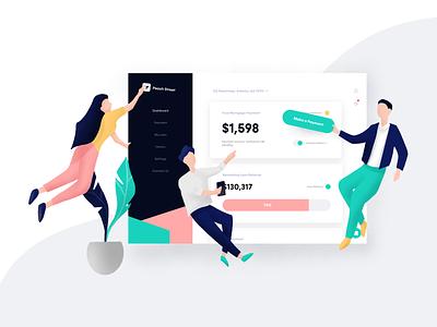 Team Collaboration Illustration website ui ux web vector concept icon branding startup illustration