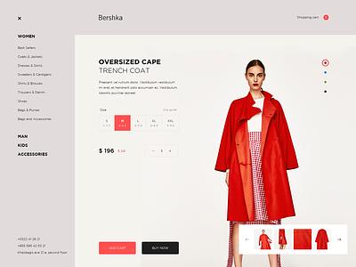 Bershka  001 bershka online store shop design web ui ux