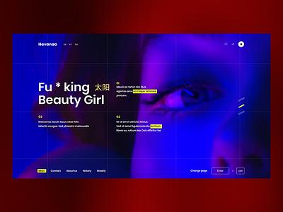 Havana beauty fucking red blue black girl havana design web ux ui