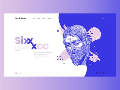 Sculpture wave six jesus design web ux ui