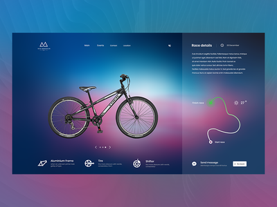 Mountain race pink blue race mountain design web ux ui