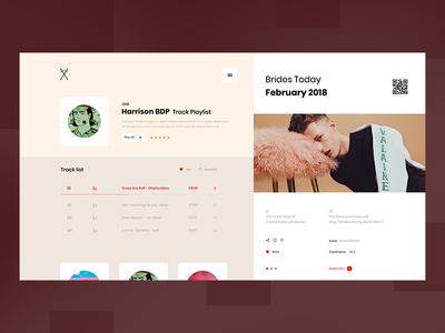 Siroba list play man red design web ux ui