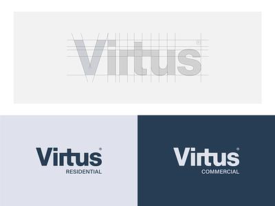 Virtus Residential / Commercial design mark identity designer logodesign brand identity ceo los angeles construction branding logo commercial company residential