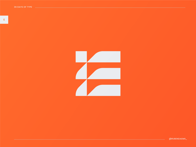 36 days of type: E letter e 36daysoftype logo mark e logo designer graphic design logo