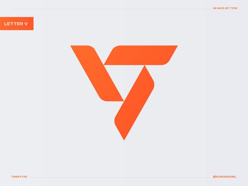 36 days of type: Letter V illustrator graphic identity logodesigner mark brand designer branding logo design