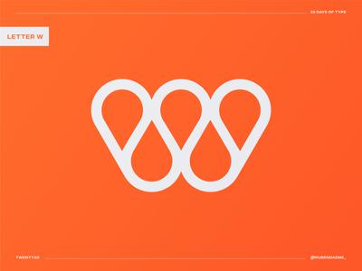 36 days of type: Letter W drop water 36daysoftype logo design letter w logo minimal designing logodesigner identity mark brand designer branding design logo