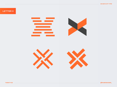 36 days of type: Letter X logo designer logo mark 4 designs color illustrator graphic identity mark brand designer branding design logo