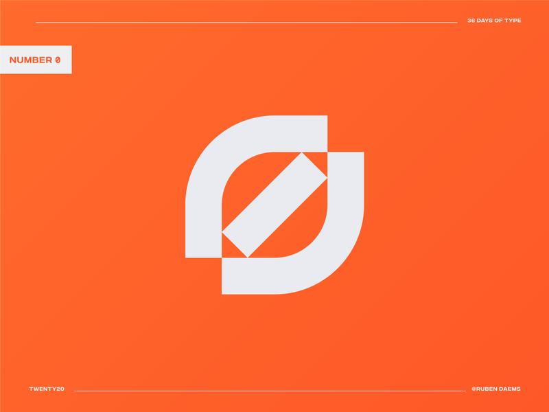 36 days of type: Number Zero designing color identity logodesigner designer minimal zero number 0 number logo number design logo