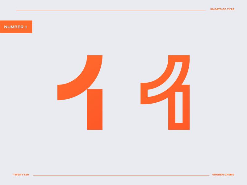 36 days of type: Number 1 numbermark logomark logodesigner identity mark brand designer branding design logo
